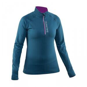 Salming Run Halfzip LS Women, storm blue, xsmall Longsleeve dam