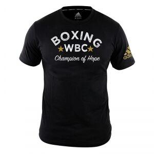 Adidas WBC Heritage T-Shirt, black, large T-Shirt herr