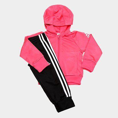 Agasalho Infantil Adidas Tracksuit Capuz Feminino - Feminino