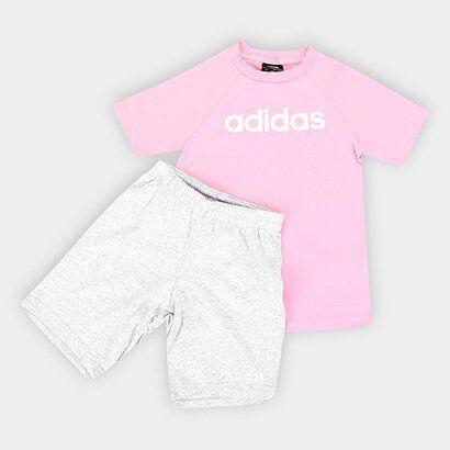 Conjunto Infantil Adidas Estampa Logo Lum Sum Set Beb - Unissex