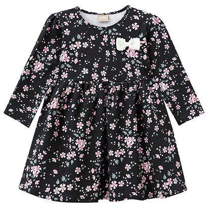 Vestido Infantil Milon Manga Longa Floral - Feminino