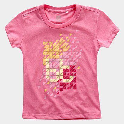 Camiseta Bt Outfit Basic Infantil Bodytech - Feminino-Rosa