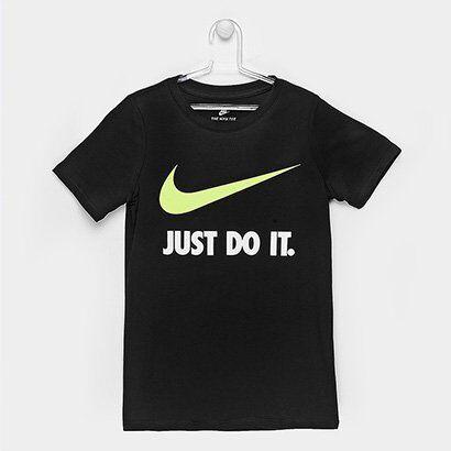 Camiseta Infantil Nike Jdi Swoosh Tee Yth - Masculino-Preto