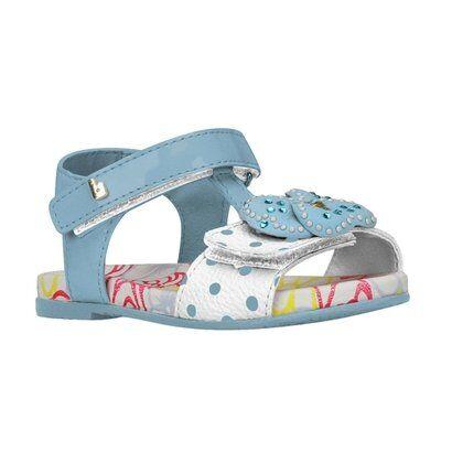 Sandália Infantil Feminina Bibi Baby Birk III 958007 - Feminino-Azul