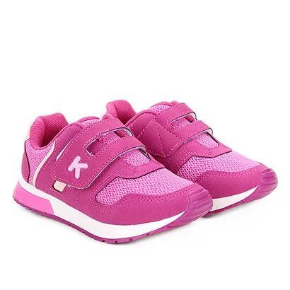 Tênis Infantil Klin Baby Walk Feminino - Feminino-Pink+Rosa