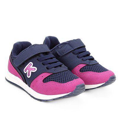Tênis Infantil Klin Walk Feminino - Feminino-Pink+Marinho