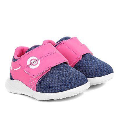 Tênis Infantil Ortopé Sport Baby Feminino - Feminino-Marinho