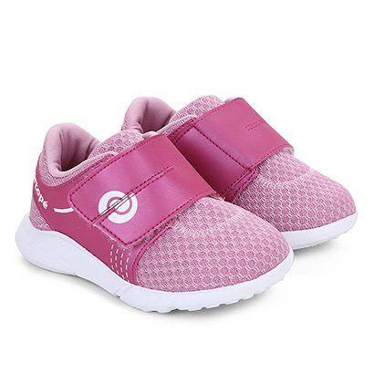 Tênis Infantil Ortopé Sport Baby Feminino - Feminino-Rosa