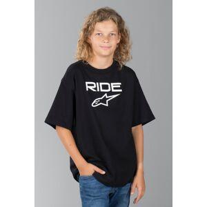 T-Shirt Alpinestars Ride 2.0 Junior, Sort/Hvid