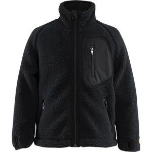 Blåkläder Børne fiberpels jakke Sort