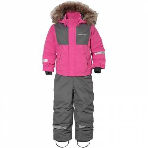 Didriksons Tirian Kids Coverall Pink Pink 100