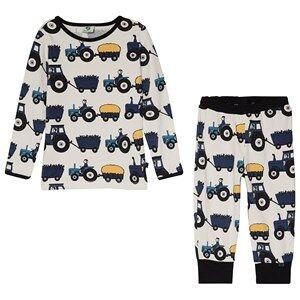 Småfolk Chalk Tractor Print Pyjama Set 1-2 år