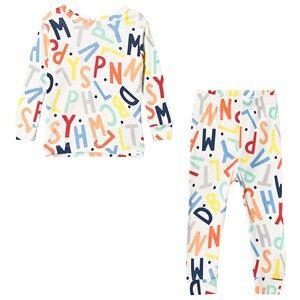 GAP ABC Pyjama Set New Off White 4 år