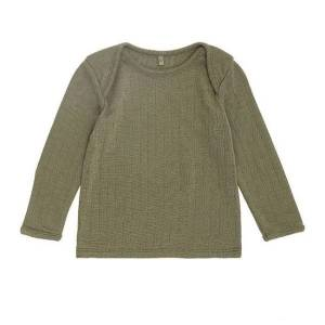 Soft Gallery Dusky Green Uld Baby Bluse