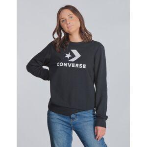 Converse, Stacked Wordmark F.T Crew Neck, Musta, NEULEET/NEULETAKIT till Tytöt, 10-12 vuotta