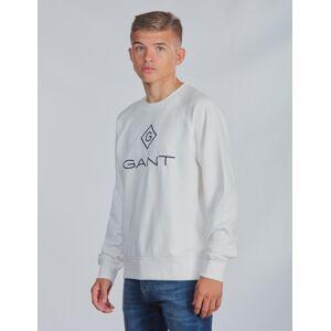 Gant, LOCK-UP CREWNECK, Valkoinen, NEULEET/NEULETAKIT till Pojat, 170 cm