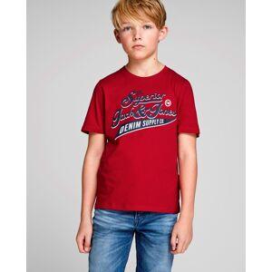 Logo Tee Red Jack & Jones Junior