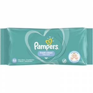 Pampers Baby Wipes Fresh Clean Baby Scent 52 kpl Märkä puhdistusliina