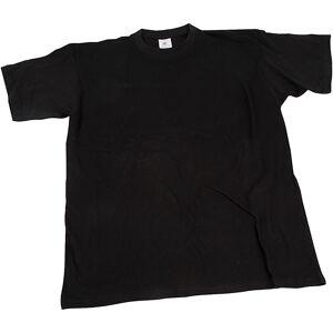 T-paita, Lev: 32 cm, koko 3-4 v., O-aukkoinen, musta, 1 kpl