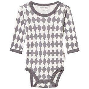 Nova Star Square Baby Body Grey 62/68 cm