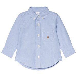 GAP Blue Opal Oxford Button-Down Shirt 4 Years