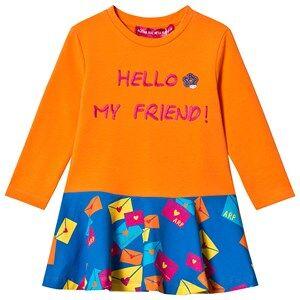 Agatha Ruiz de la Prada Orange & Blue Hello My Friend Dress 12 years
