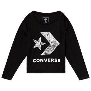 Converse Black Oversized Chevron Long Slee Top 12-13 years