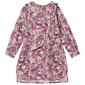 Bonpoint Liberty Print Ruffle Dress Purple 10 years