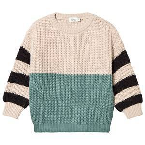 bho Carlo Striped Sweater Green Forest 4 Years