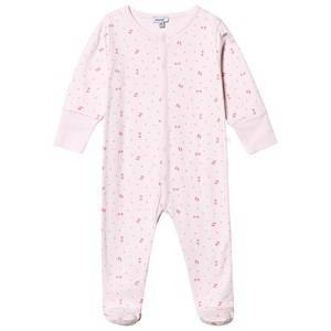 Absorba Star Print Footed Baby Body Pink Newborn