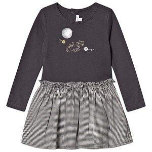 Absorba Gingham Cat Print Dress Grey 18 months