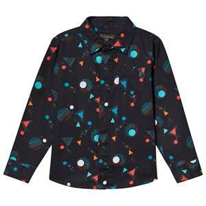 Velveteen Sci-Fi Geo Printed Sebastian Shirt Navy 8 years