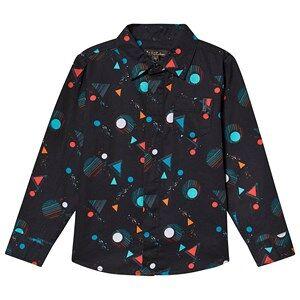 Velveteen Sci-Fi Geo Printed Sebastian Shirt Navy 12 years
