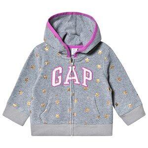 GAP Logo Hoodie Grey Heather 18-24 Months