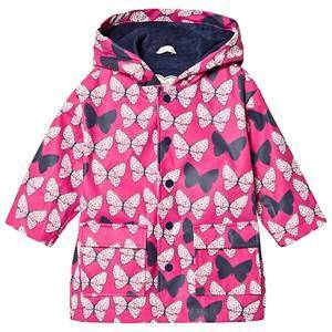 Hatley Color Changing Raincoat Spotted Butterflies Pink Raincoats
