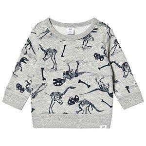 GAP Fossils Sweatshirt Light Heather Grey 12-18 Months