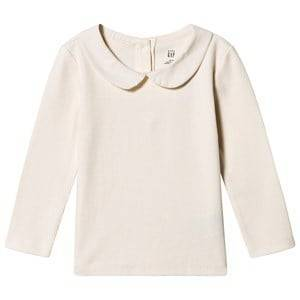 GAP Collar Tee Ivory Frost 18-24 Months