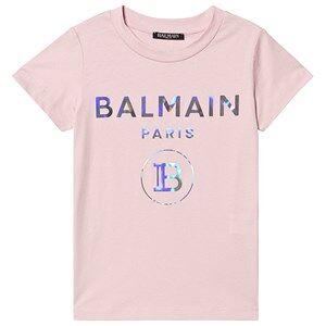 Balmain Hologram Logo Tee Pink 10 years