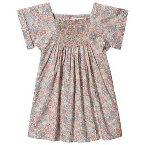 Bonpoint Multi Floral Liberty Print Smocked Dress 2 years