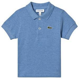 Lacoste Branded Pique Polo Shirt Pale Blue 2 years