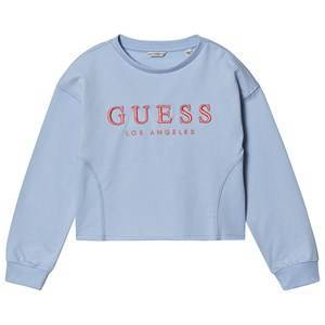 Guess Embroidered Cropped Sweatshirt Blue/Coral 7 years