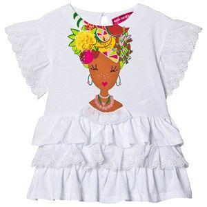 Agatha Ruiz de la Prada Bahia Ruffle Dress White 5 years