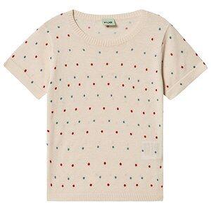 FUB Dot T-Shirt Ecru/Red/Blue 110 cm (4-5 Years)