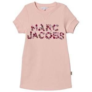 Little Marc Jacobs Pink Jewelled Marc Jacobs Short Sleeve Sweat Dress 8 years