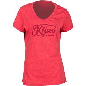 Klim Script Naisten t-paita  - Punainen - Size: S
