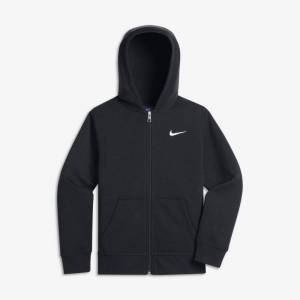 Nike Sportswear hettegenser med hel glidelås til barn - Black
