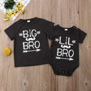 Brother 2019 Infant Baby Little Brother Romper 0-18M Big Brother T-shirt 2--5T Family Match Clothes Outfits T shirt