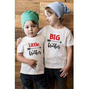 Brother 1pcs Big/Little Brother Family Matching Clothes Kids Short Sleeve Casual T-shirt Tops Outfits Baby Boy Tees Shirts Clothes