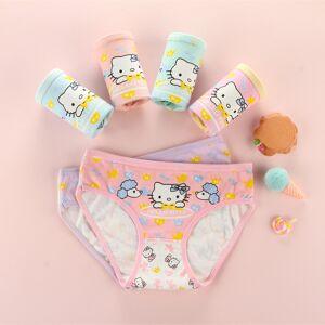 3192e3a94b6 4Pcs  Lot kids Underwear Cotton Panties 2018 New Clothing Cute Cat Cartoon  Printed Girls Baby