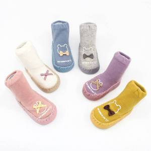 Newborn Spring Autumn Winter Infant Funny Socks Anti Slip Baby Boy Socks  With Rubber Soles Baby 555a2ee3611d
